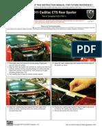 11 Up Cadillac Cts Rear Spoiler Installation Manual Carid