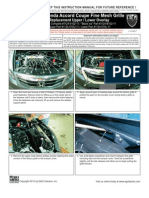 11 Up Honda Accord Coupe Grille Installation Manual Carid