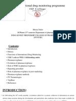 WHO international drug monitoring