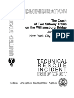 The Crash of Two Subway Trains on the Williamsburg Bridge