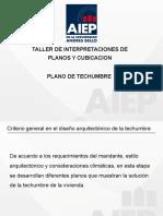 6ta clase de taller de interptreacion de plano y cubicacion. PLANO DE TECHUMBRE 2da parte