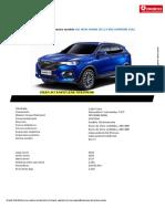 ESPECIFICACIONES TECNICAS DEL AUTO ALL NEW HAVAL  H6 2.0 4X2 SUPREME FULL