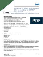 Determination of Sugar Solution Color at pH7