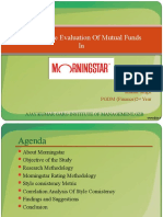 performance evaluation of mutual fund