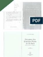 Dicionário dos Remédios Florais do Dr. Bach
