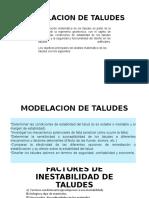 CLASE 7. MODELACION TALUDES