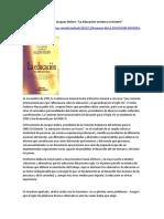 Informe de Jacques Delors - Resumen