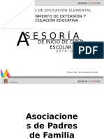 Asesoría de Inicio de Ciclo Escolar 19-20