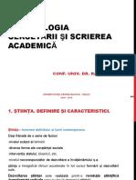 METODOLOGIA CERCETARII si SCRIEREA ACADEMICA - 2018 Suport de curs Rd. FLOREA