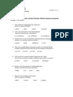 2. Dach-quiz Alemão A1.1