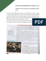 ACTIVIDADES DEL 24 DE MARZO
