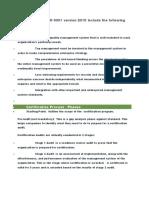 ISO 9001-2015 Training