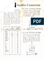 Mallory T and L pad fader instructions