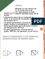 Arbol generador minimal. Prim y kruskal
