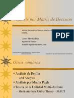 Aplicación de Matriz de Decisión