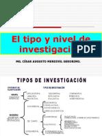 TIPO Y NIVEL DE INVESTIGACIÓN
