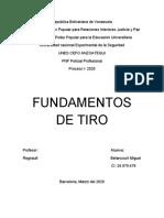 FUNDAMENTOS DE TIRO REGNAULT