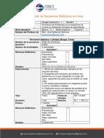 Diseño de Secuencias Didácticas en Línea Ejemplo