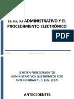 EL ACTO ADMINISTRATIVO Y EL PROCEDIMIENTO ELECTRÓNICO
