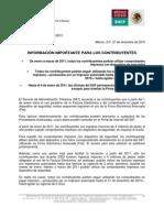 Comunicado #170 SAT (Información sobre CFD)