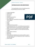 LISTADO DE MATERIALES