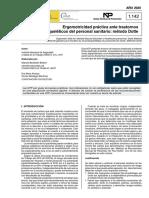 NTP 1142 Ergomotricidad práctica ante trastornos musculoesqueléticos del personal sanitario método Dotte - Año 2020