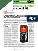 Dal coltan al litio - MOSAICO DI PACE febbraio 2012