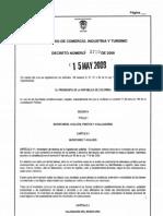 DECRETO 1730 DE 2009 MINCOMERCIO