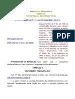 LEI COMPLEMENTAR 141 - RECURSOS SAÚDE