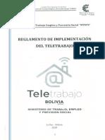 Reglamento de implementación de teletrabajo en Bolivia