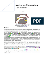 The Alphabet as an Elementary Document