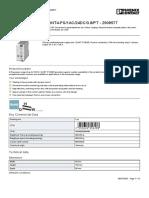 Alimentación de corriente - QUINT4-PS1AC24DC3.8PT - 2909577