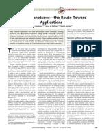 Carbon Nanotubes--The Route Toward Applications