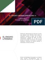 EL ENSAYO HISPANOAMERICANO
