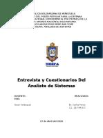 Analista de Sistema Entrevistas y Cuestionarios