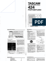 Tascam 424 Manual
