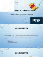 Gelificantes y texturizantes