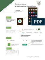 Guía para acceso a plataforma de Google Classroom por smarphone