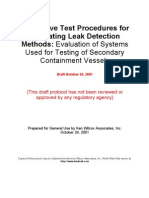 DRAFT Procedure for Testing Sump Leak Detectors