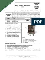 Ficha tecnica de horno