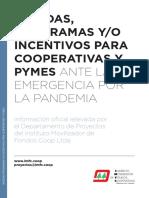 Programas y medidas para las cooperativas