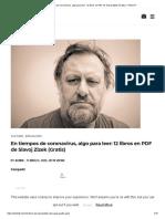 En tiempos de coronavirus, algo para leer_ 12 libros en PDF de Slavoj Zizek (Gratis) – Hello DF