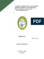 Hidráulica 2 Régimen Critico