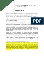 Mexico con relación al COVID-19