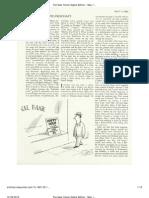 Samson Raphaelson, Freundschaft, The New Yorker, May 11, 1981