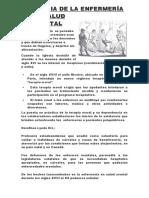 HISTORIA DE LA ENFERMERÍA EN SALUD MENTAL