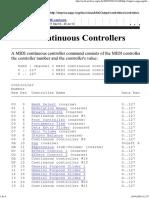 MIDI Continuous Controllers