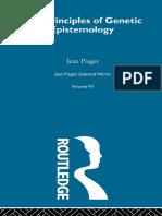 (1970. 1997). Piaget. The principles of genetic epistemology Vol VII