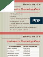 Cuadro Movimientos cinematográficos
