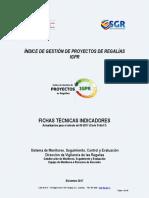 Fichas técnicas de Indicadores IGPR